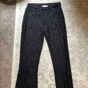 Black lacey flare bottom pants